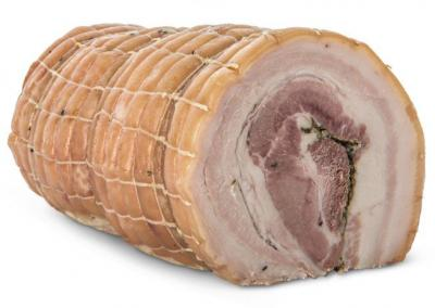 Pancetta Arrosto Toscana cibo valsana suppliers london