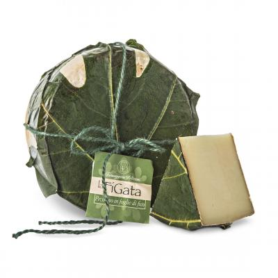 La Figata - Pecorino in figs leaves, Valsana, Cibo, Cheese, Supplier, Importer, Wholesaler, Italian, formaggio